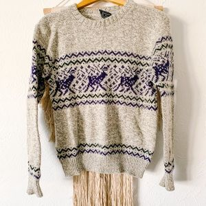 Vintage Peconic Bay Traders Deer Sweater